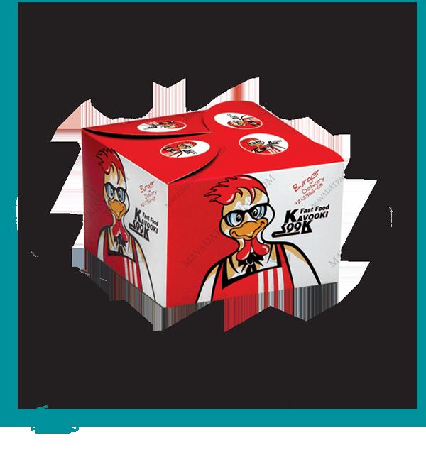 جعبه همبرگر مدل درب ضربدری