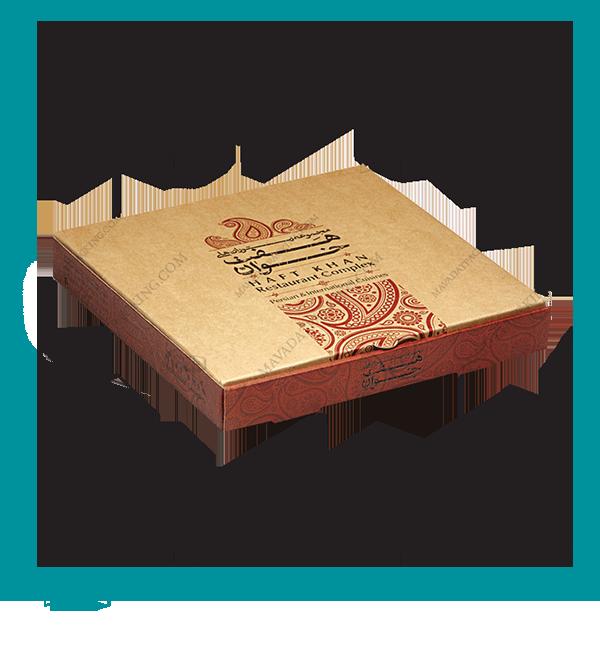 جعبه پیتزا سه لایه یک تکه