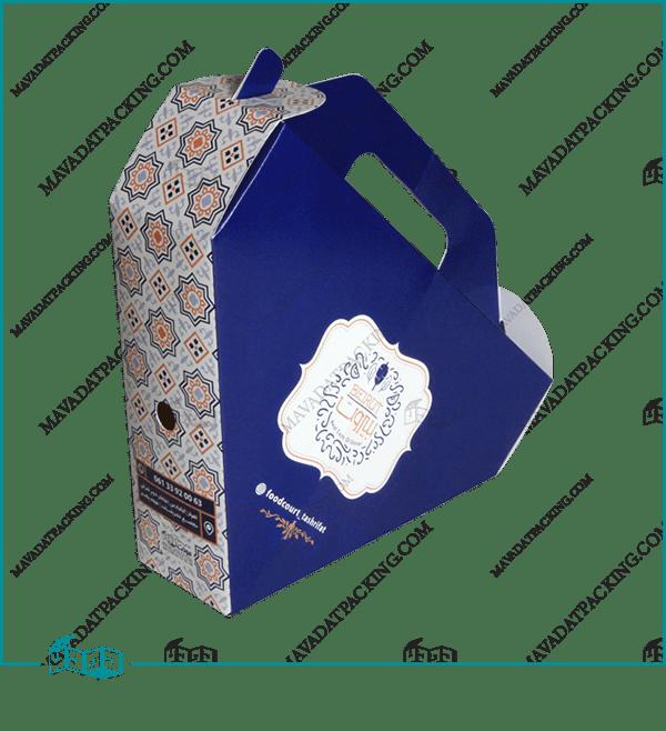 جعبه کباب دونر مثلثی دسته دار
